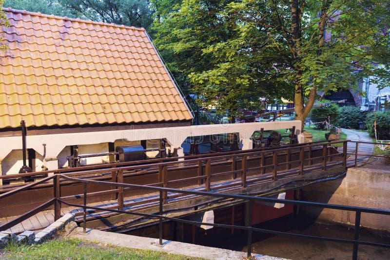Мельница замка в Slupsk стоковые фотографии rf