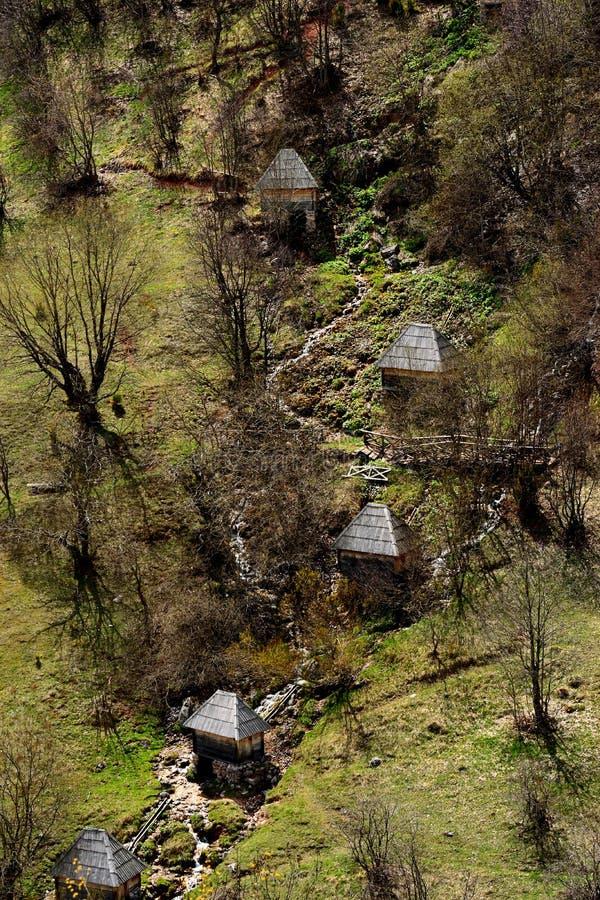 Мельницы Watter на деревне Umoljani стоковые изображения