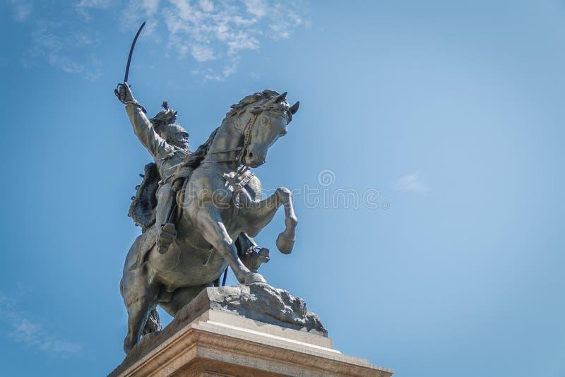 Мемориальная конноспортивная статуя короля Vittorio Emanuele II в Венеции, Италии стоковое изображение rf