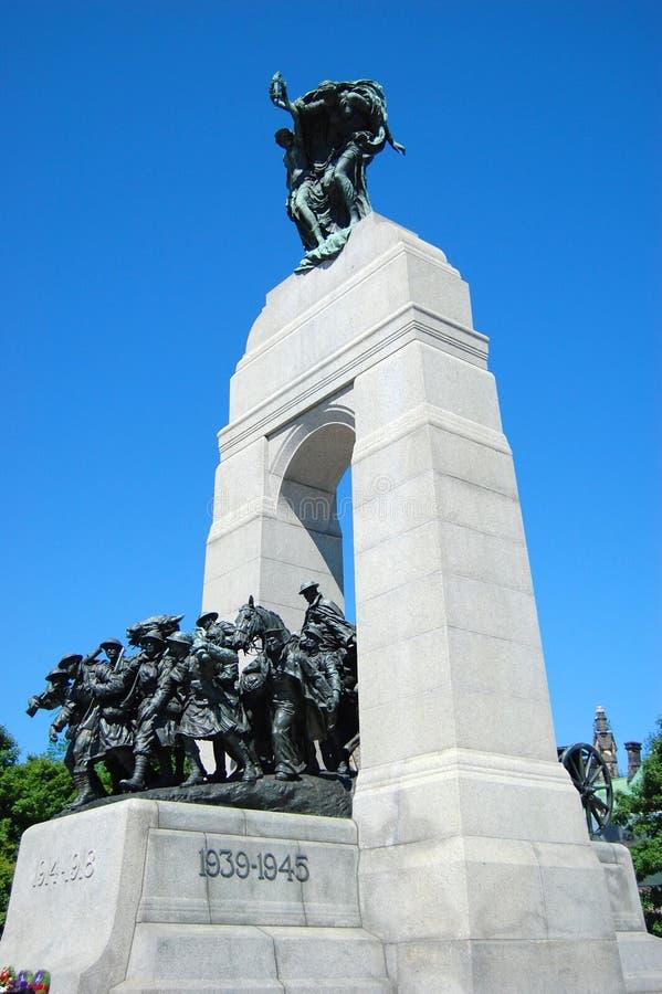 мемориальное национальное война ottawa стоковое изображение rf