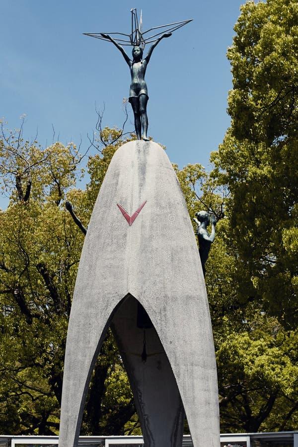 Мемориальный парк мира в Хиросиме, Японии стоковая фотография