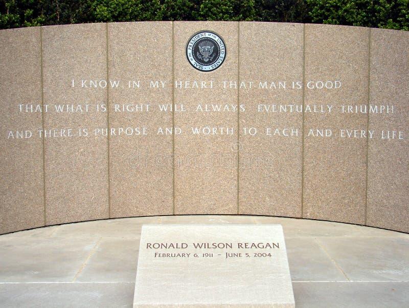 мемориальный reagan ronald стоковые фотографии rf