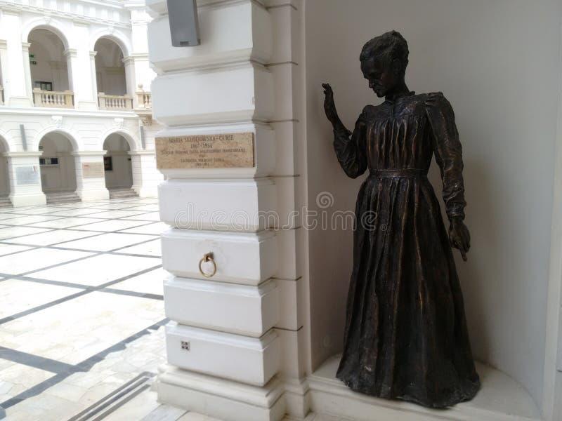 Мемориал Варшава Sklodowska Марии Кюри стоковое фото rf