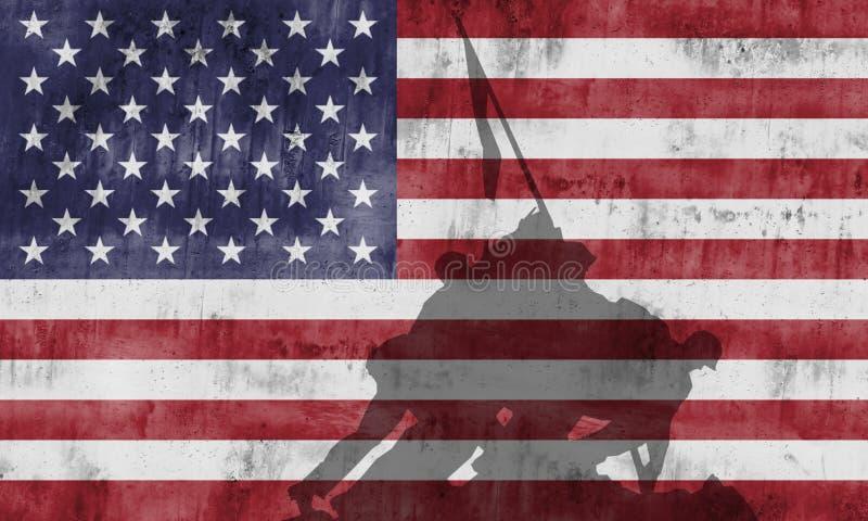 Мемориал войны морской пехот стоковое фото rf