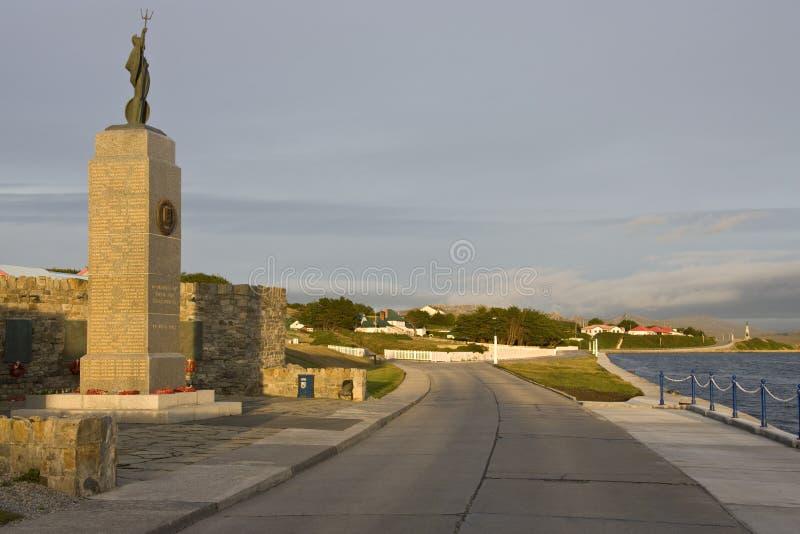 Мемориал войны Falklands в Стэнли стоковые фото