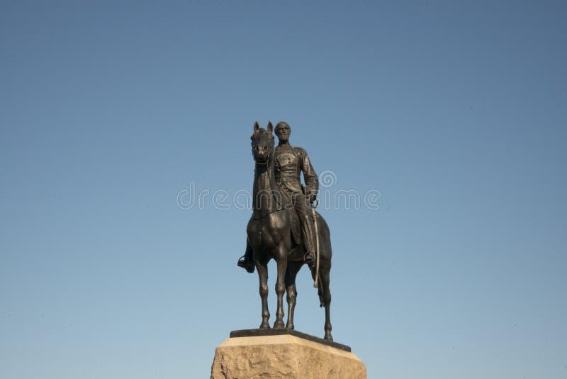 Мемориал для генерала Джордж Meade на Gettysburgh, Пенсильвании стоковое фото