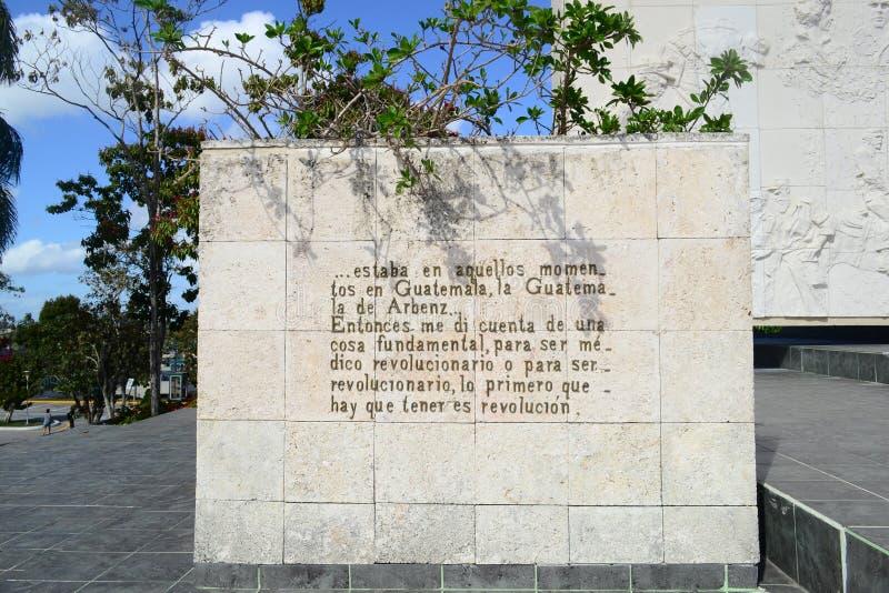 Мемориал и мавзолей в Santa Clara, Кубе стоковые изображения