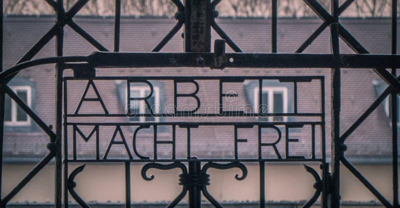 Мемориал концентрационного лагеря Dachau стоковые фотографии rf