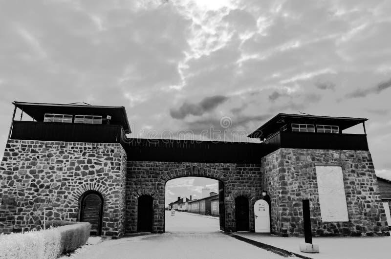 Мемориал концентрационного лагеря mauthausen, Австрия стоковая фотография