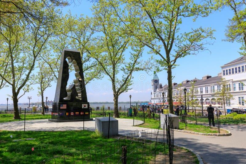 Мемориал Корейской войны в парке батареи Нью-Йорка стоковое изображение