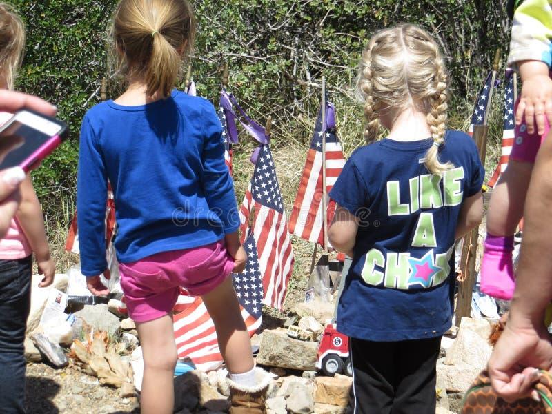 Мемориал к u S Ветераны, Butte большого пальца руки, Аризона стоковое изображение