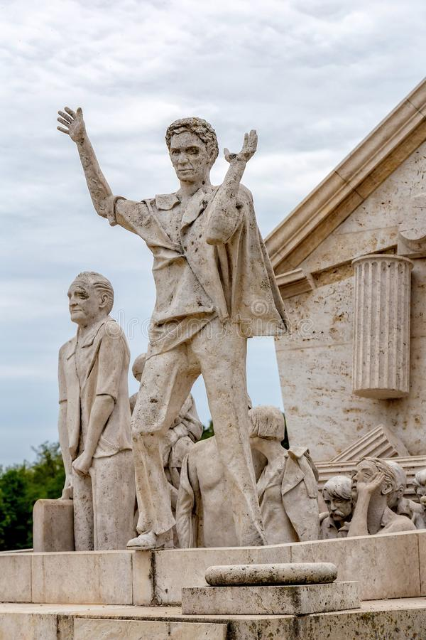 Мемориал мира переворот, памятник к все- европейскому пикнику 1989 на St Margarethen, Бургенланде, озере Neusiedl стоковые изображения rf