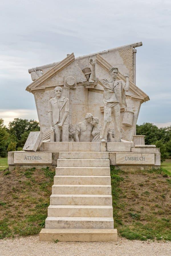 Мемориал мира переворот, памятник к все- европейскому пикнику 1989 на St Margarethen, Бургенланде, озере Neusiedl стоковые изображения