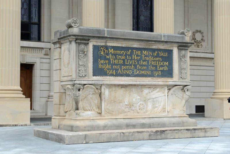 Мемориал мировой войны, Йельский университет, CT, США стоковое изображение