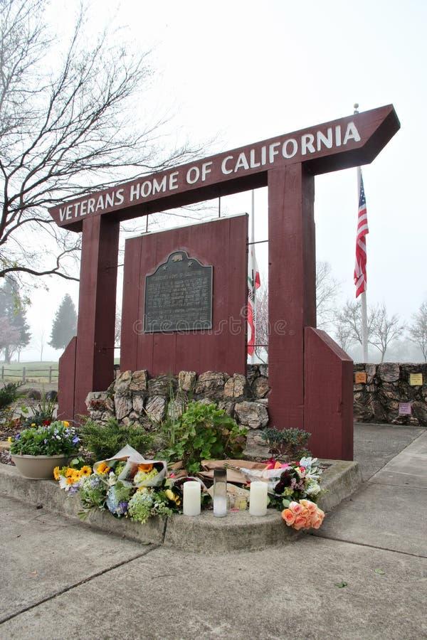 Мемориал на ветеранах самонаводит Калифорнии в Yountville, халифе стоковые фотографии rf