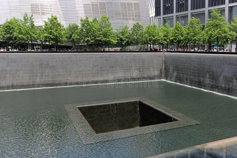 Мемориал 11-ое сентября в Нью-Йорке стоковое фото