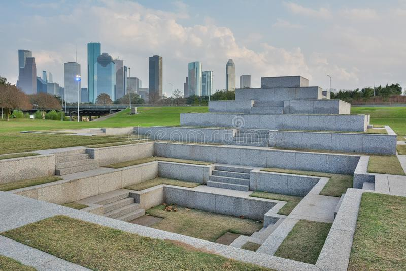 Мемориал полицейских Хьюстон в Хьюстон, TX стоковая фотография