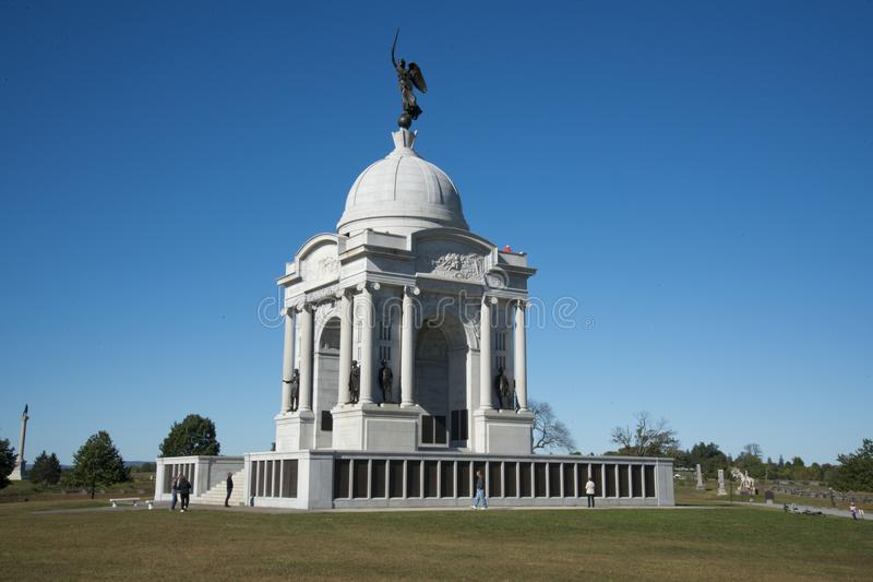 Мемориал положения Пенсильвании на поле брани Gettysburg стоковые фотографии rf