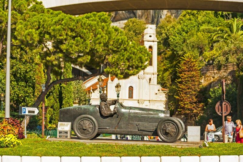 Мемориал Хуана Манюэля Fangio в Монако стоковые фото