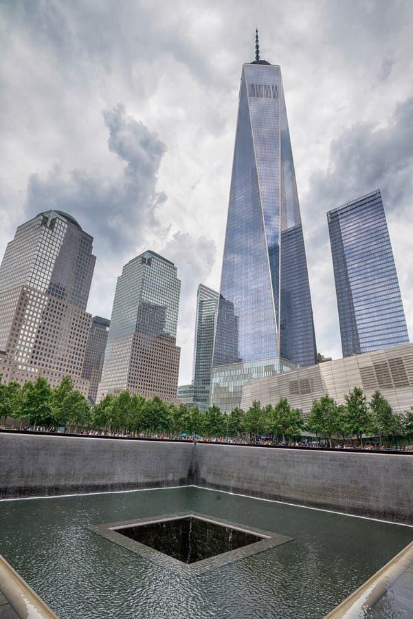 Мемориал эпицентра всемирного торгового центра стоковая фотография rf