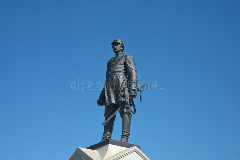 Мемориал Abner Doubleday на Gettysburg, PA стоковое изображение