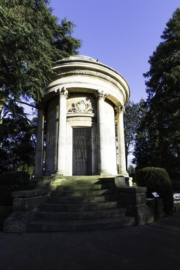 Мемориал Jephson - сады Jephson, королевский курорт Leamington, Уорикшир, Великобритания стоковое фото