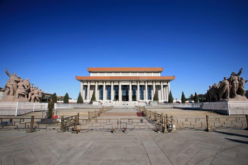 мемориал mao залы руководителя стоковое изображение rf