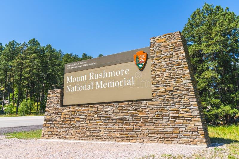 Мемориал Mount Rushmore национальный, Южная Дакота, США 07-28-17: mo стоковые фотографии rf
