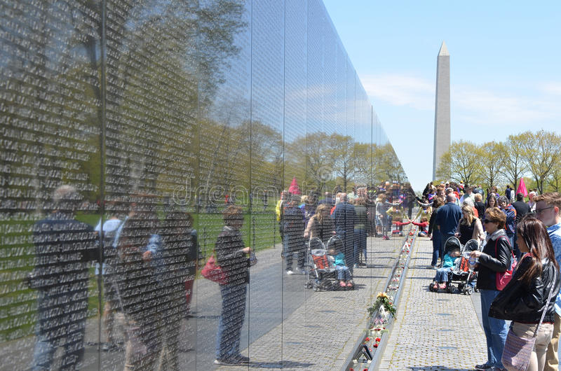 Мемориал ветеранов Вьетнама, DC Вашингтона стоковое фото