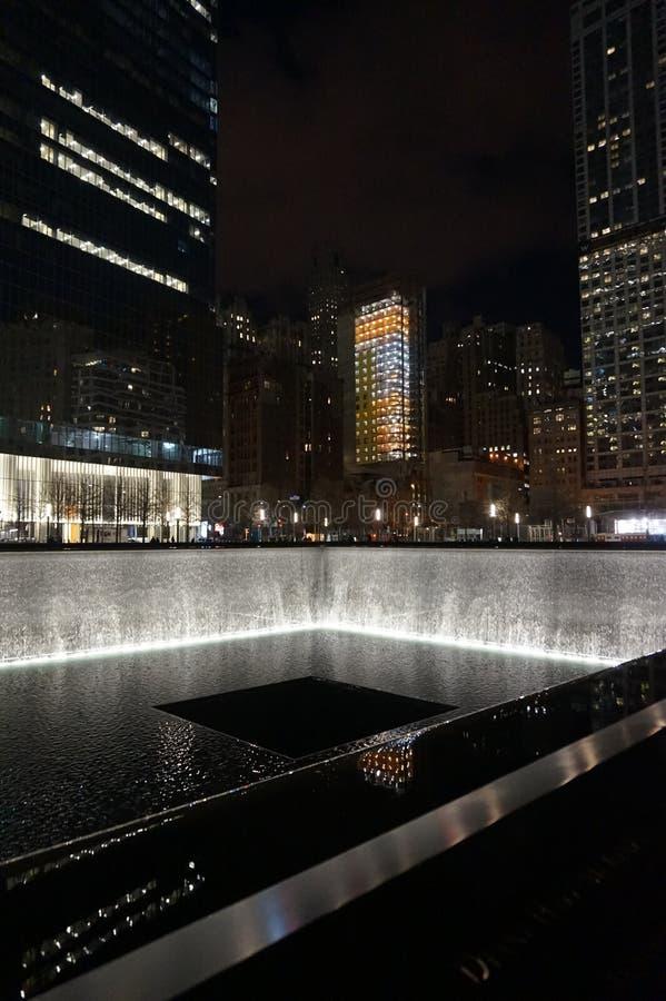 Мемориал всемирного торгового центра стоковая фотография rf