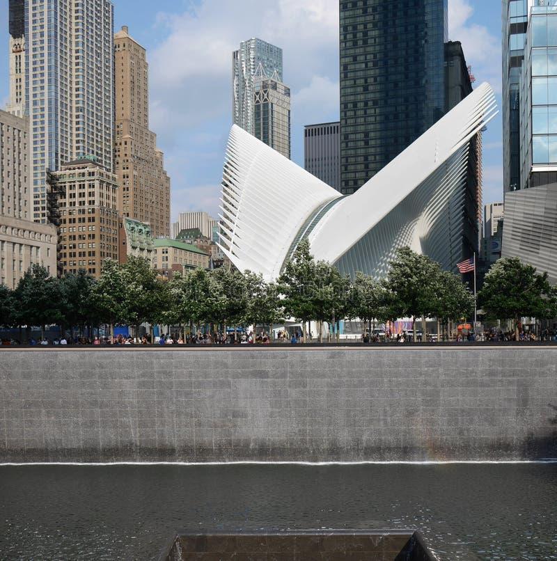 Мемориал всемирного торгового центра 9/11 стоковые изображения