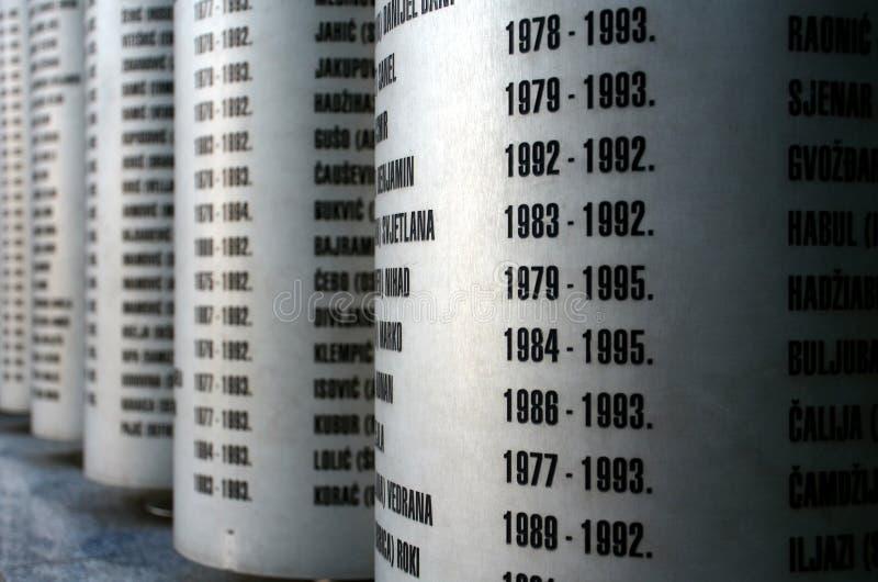 Мемориал в Сараеве стоковая фотография