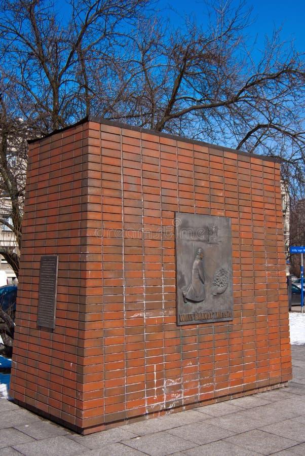 Мемориал к Willy Brandt - Польше стоковые фото