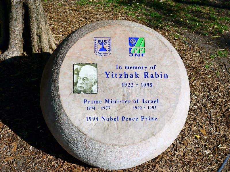 Мемориал к Yitzak Rabin стоковая фотография rf