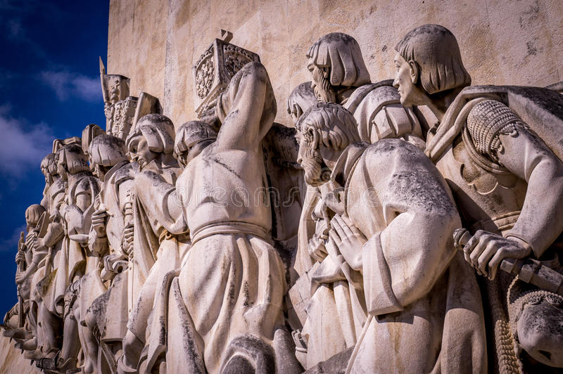 Мемориал матроса и исследователя в Лиссабоне, Португалии стоковое фото rf