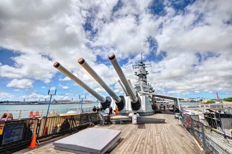 Мемориал Миссури линкора USS стоковое фото