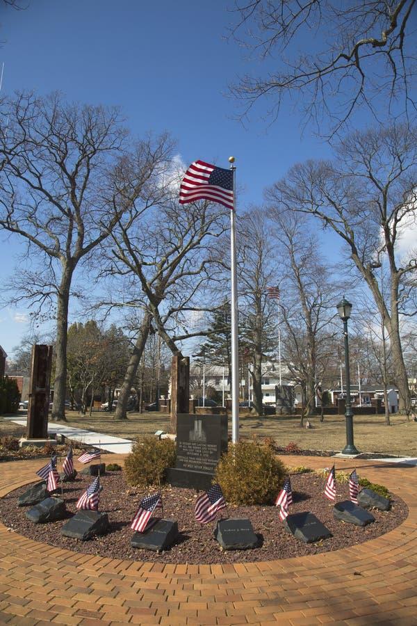 Мемориал 11-ое сентября с столбцами от мира Trad стоковое изображение rf