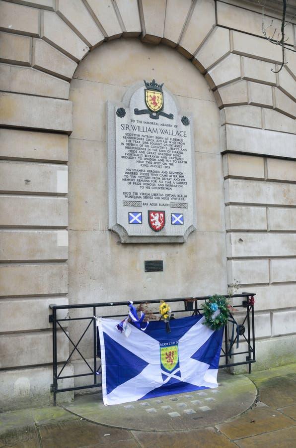 Мемориал Уильям Уоллес флага Лондона стоковая фотография