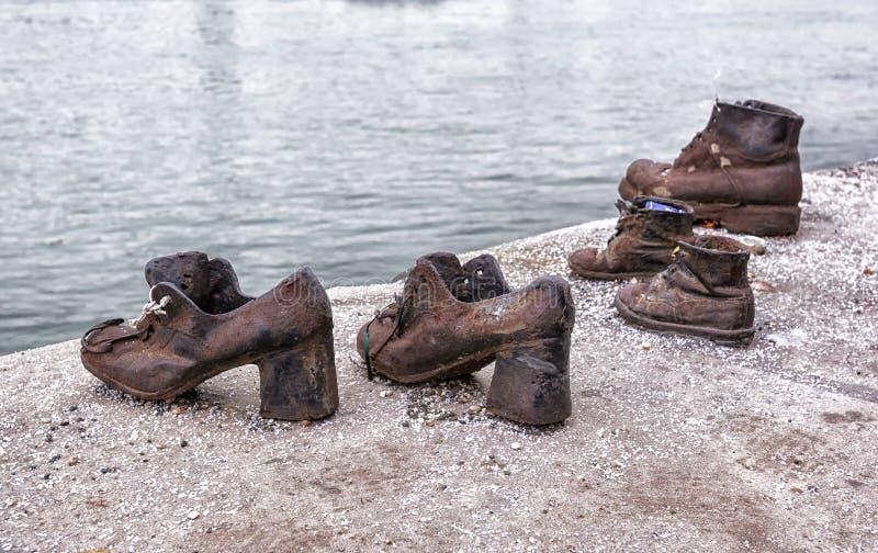 Мемориал холокоста Будапешта стоковое изображение rf