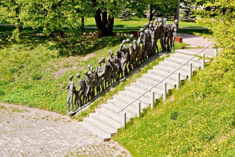 Мемориал холокоста в Минске, Беларуси стоковые фото