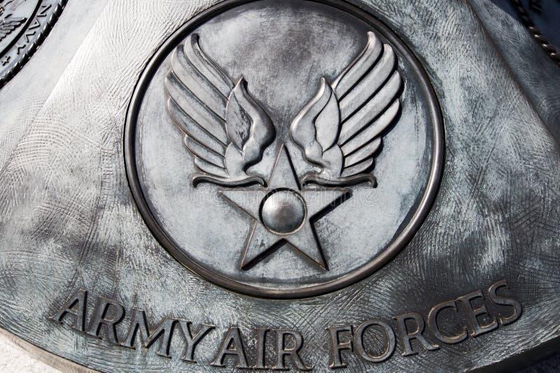 Мемориальная доска военновоздушных сил армии США стоковое изображение rf