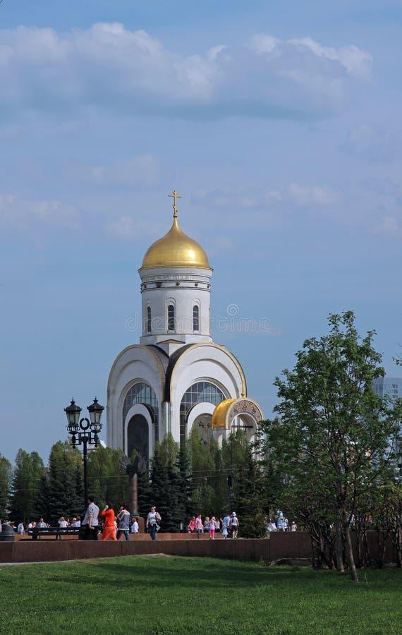 Мемориальная церковь в честь победы в Второй Мировой Войне стоковые изображения rf