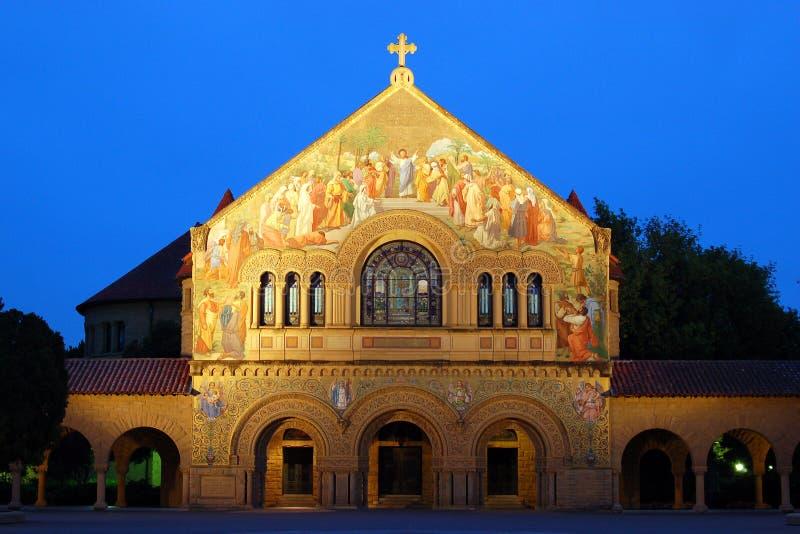 Мемориальная церковь, университет Stamford стоковое фото rf