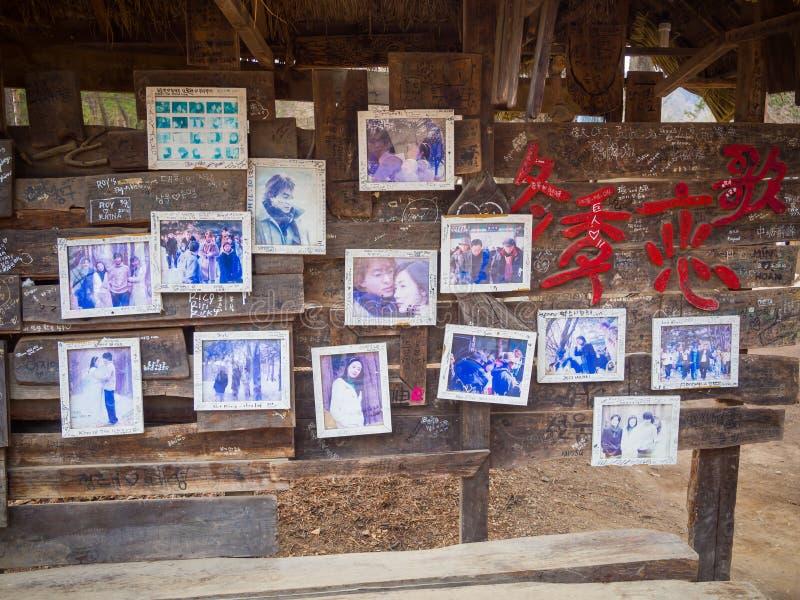 Мемориальное изображение популярной корейской сонаты зимы драмы стоковые фотографии rf