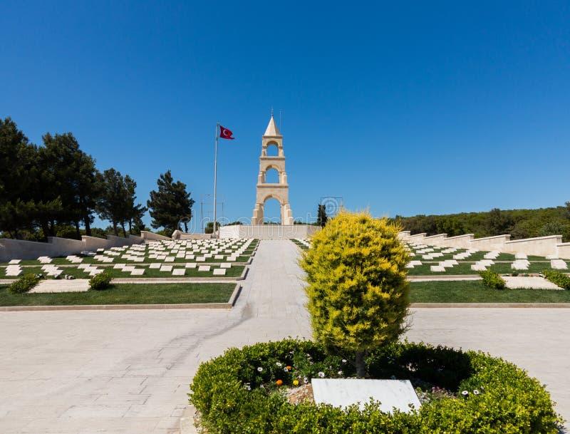 Мемориальный камень на бухте Gallipoli Anzac стоковые изображения rf