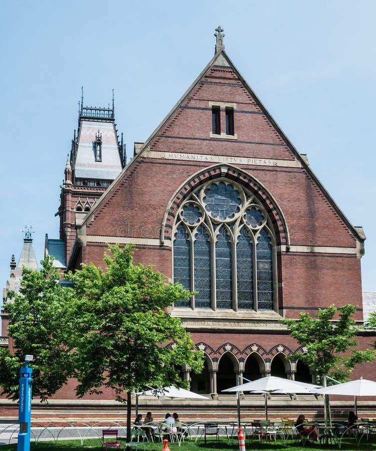 Мемориальный Hall, Кембридж, Массачусетс стоковое фото