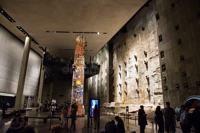9/11 мемориальных музеев Нью-Йорк стоковое изображение rf