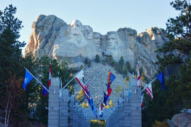Мемориал Mount Rushmore национальный в Южной Дакоте стоковое изображение rf