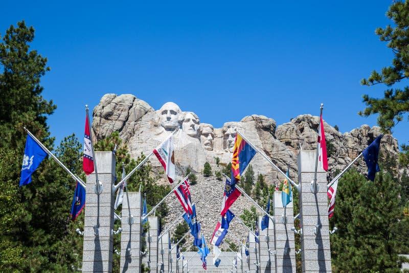 Мемориал Mount Rushmore национальный, Южная Дакота, США стоковое изображение