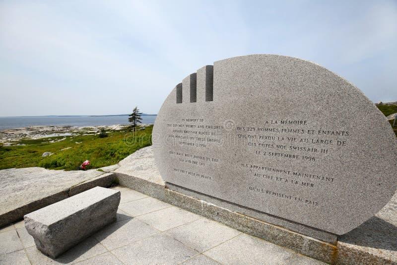 Мемориал Swissair 111 бухты Pegg общественный, Новая Шотландия стоковое изображение